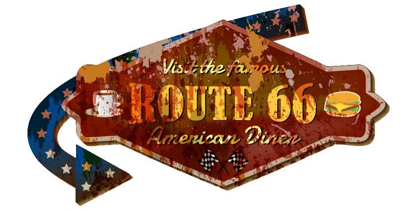 Historic Route 66 in Grand Canyon Arizona