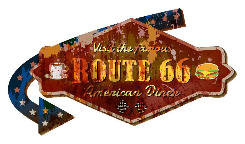 Historic Route 66 in Grand Canyon Arizona